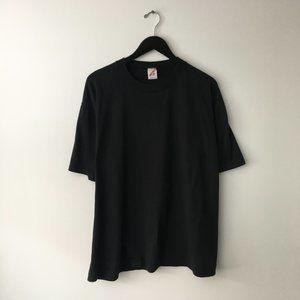 80's Vintage Basic Minimal T Shirt USA Black 2XL